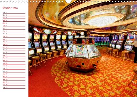 LES JEUX DE CASINO (Calendrier mural 2020 DIN A3 horizontal). Tableaux de peinture numérique sur le thème des jeux de casino (Calendrier anniversaire, 14 Pages )
