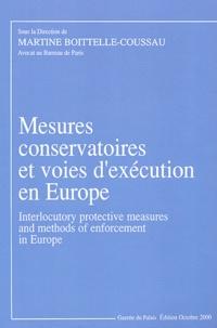 Martine Boitelle-Cousseau - Les mesures conservatoires et les voies d'exécution en Europe.