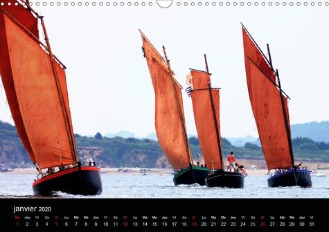 Les Sinagots (Calendrier mural 2020 DIN A3 horizontal). Photos d'anciens bateaux de pêche du début du  XXe siècle (Calendrier mensuel, 14 Pages )