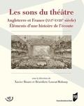 Xavier Bisaro et Bénédicte Louvat-Molozay - Les sons du théâtre - Angleterre et France (XVIe-XVIIIe siècle) Eléments d'une histoire de l'écoute.