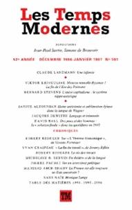 Claude Lanzmann - Les Temps Modernes N° 591, Janvier 1997 : .