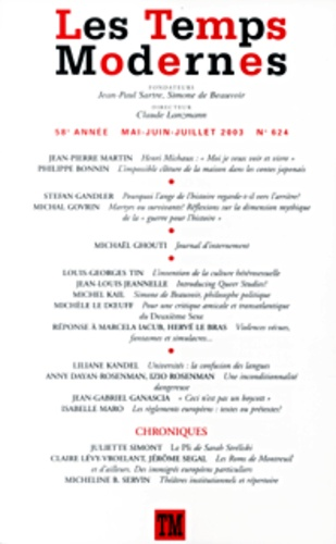 Collectifs - Les Temps Modernes N° 624 Mai-Juin-Juil : .