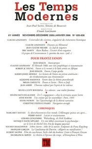 Claude Lanzmann et Jean-Claude Milner - Les Temps Modernes N° 635-636, Novembre : Pour Frantz Fanon.