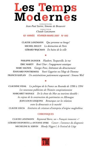 Claude Lanzmann et Bernard Cuau - Les Temps Modernes N° 642, février-mars : .