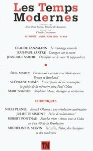 Jean-Paul Sartre et Claude Lanzmann - Les Temps Modernes N° 649, Avril-juin 2 : .