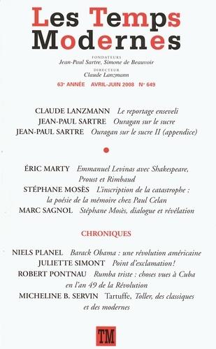Les Temps Modernes N° 649, Avril-juin 2