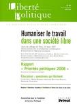 Jean-Yves Naudet et Giampaolo Crepaldi - Liberté politique N° 40, Mars 2008 : Humaniser le travail dans une société libre.