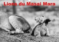Michel Hagège - Lions du Masai mara (Calendrier mural 2020 DIN A3 horizontal) - Photos N&B de lions libres et sauvages (Calendrier mensuel, 14 Pages ).