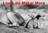 Michel Hagège - Lions du Masai mara (Calendrier mural 2020 DIN A4 horizontal) - Photos N&B de lions libres et sauvages (Calendrier mensuel, 14 Pages ).