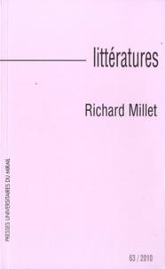 Jean-Yves Laurichesse - Littérature N° 63/2010 : Richard Millet.
