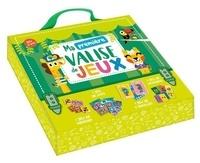 Auzou - Ma première valise de jeux ! - Avec 1 jeu de memory, 1 jeu de loto, 1 jeu de 5 familles, 1 jeu de dominos.