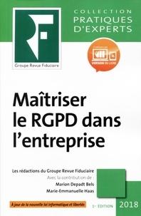 Marion Depadt Bels et Marie-Emmanuelle Haas - Maîtriser le RGPD dans l'entreprise.