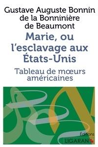 Gustave de Beaumont - Marie, ou l'esclavage aux Etats-Unis - Tableau de moeurs américaines.