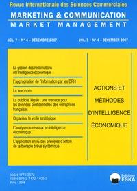 Yves Chirouze - Marketing & Communication Volume 7 N° 4, Décem : Actions et méthodes d'intelligence économique.