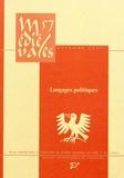 Gautier et Aude Mairey - Médiévales N° 57, automne 2009 : Langages politiques - XIIe-XVe siècle.
