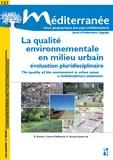 Isabelle Berry-Chikhaoui et Elisabeth Dorier - Méditerranée N° 123/2014 : La qualité environnementale en milieu urbain - Evaluation pluridisciplinaire.