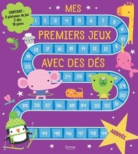 Dawn Machell - Mes premiers jeux avec des dés - Avec 5 plateaux de jeu, 2 dés, 16 pions.