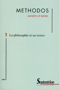 Jean Bollack et Myles Burnyeat - Methodos N° 1 / 2001 : La philosophie et ses textes.