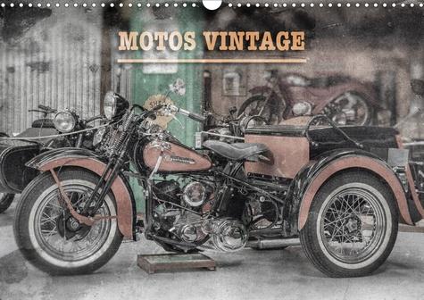 MOTOS VINTAGE (Calendrier mural 2020 DIN A3 horizontal). Exposition de motos anciennes (Calendrier mensuel, 14 Pages )