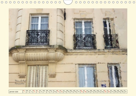 Mystérieuses fenêtres parisiennes (Calendrier mural 2020 DIN A4 horizontal). Des photos de fenêtres parisennes, toutes originales et différentes (Calendrier mensuel, 14 Pages )