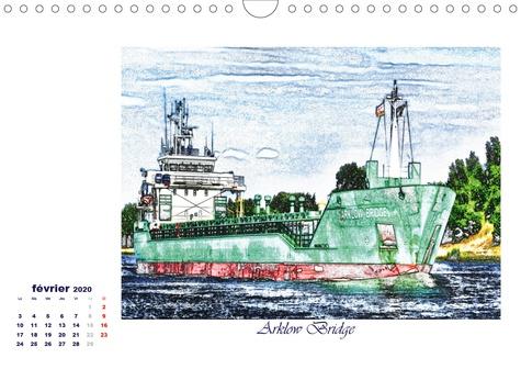 Navires d'un point de vue différent (Calendrier mural 2020 DIN A4 horizontal). Une sélection des navires à passagers et cargos, d'un point de vue artistique. (Calendrier mensuel, 14 Pages )