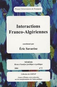 Gérard Camilleri et Eric Savarese - Nemesis N° 5, 2004 : Interactions franco- algériennes.