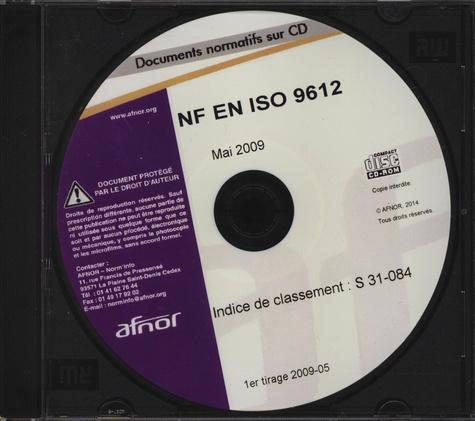 AFNOR - NF EN ISO 9612. 1 Cédérom