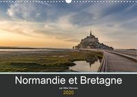 Mike Weiwers - Normandie et Bretagne (Calendrier mural 2020 DIN A3 horizontal) - Beaux endroits en Normandie et en Bretagne (Calendrier mensuel, 14 Pages ).