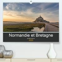 Mike Weiwers - Normandie et Bretagne(Premium, hochwertiger DIN A2 Wandkalender 2020, Kunstdruck in Hochglanz) - Beaux endroits en Normandie et en Bretagne (Calendrier mensuel, 14 Pages ).