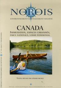 Gérard Richez et Jozy Richez Battesti - Norois N° 199, 2/2006 : Canada - Immigration, espaces urbanisés, parcs nationaux, loisir patrimonial.