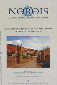 Françoise Ardillier-Carras et Ricardo Aguero - Norois N° 210 : L'agriculture et les filières agro-alimentaires en France et en Argentine.