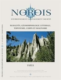 Céline Barthon - Norois N° 229-2013/4 : Ruralités, géomorphologie littorale, toponymie, corps et imaginaire.