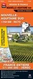 Blay-Foldex - Nouvelle-Aquitaine sud, 1/250 000, recto - France entière, 1/1 000 000, verso.