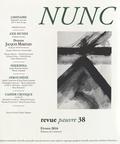 Franck Damour et Réginald Gaillard - Nunc N° 38, février 2016 : Dossier Jacques Maritain.