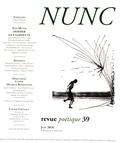Yves Leclair et Réginald Gaillard - Nunc N° 39, juin 2016 : Dossier Guy Goffette.