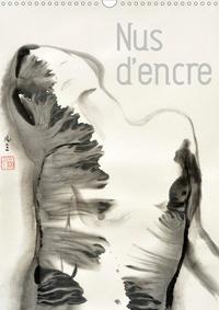 K.a. Lumi - Nus d'encre (Calendrier mural 2020 DIN A3 vertical) - Série de nus féminins à l'encre de Chine (Calendrier mensuel, 14 Pages ).