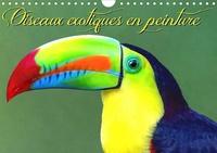 K.a. Sudpastel - Oiseaux exotiques en peinture (Calendrier mural 2020 DIN A4 horizontal) - Série de 12 créations originales d'oiseaux exotiques des espèces les plus colorées (Calendrier mensuel, 14 Pages ).