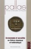 Jean-Luc Lamboley et Patrice Brun - Pallas N° 74/2007 : Economies et sociétés en Grèce classique et hellénistique.