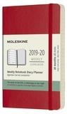 SODIS (PAPET) - Agenda Moleskine 18M 9 x 14 Soft rouge