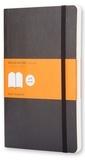 SODIS (PAPET) - Carnet Moleskine souple 13 x 21 cm ligné noir