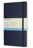 SODIS (PAPET) - Carnet Moleskine souple 13 x 21 cm pointillé saphir