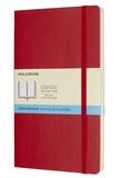 SODIS (PAPET) - Carnet Moleskine souple 13 x 21 cm pointillé scarlet