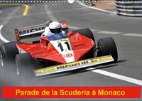 Alain Hanel - Parade de la Scuderia à Monaco - Le cheval cabré sur le circuit de Monaco.