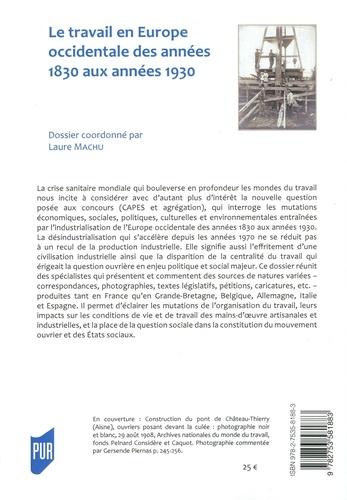 Parlement[s] N° 33/2021-1 Le travail en Europe occidentale des années 1830 aux années 1930. Spécial concours : commentaires de documents