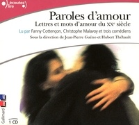 Jean-Pierre Guéno et Hubert Thébault - Paroles d'amour. 1 CD audio