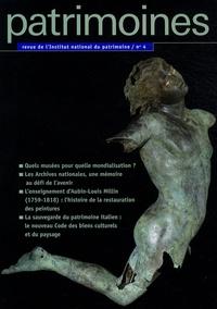 Geneviève Gallot et Jean-Claude Schmitt - Patrimoines N° 4 : .