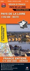 Blay-Foldex - Pays de la Loire, 1/250 000, recto - France entière, 1/1 000 000, verso.