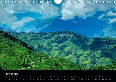 Paysages du Yunnan (Calendrier mural 2020 DIN A4 horizontal). Regards sur la Chine, le Yunnan (Calendrier mensuel, 14 Pages )