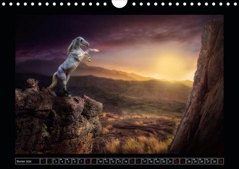 Paysages imaginaires (Calendrier mural 2020 DIN A4 horizontal). Images de mondes virtuels (Calendrier mensuel, 14 Pages )