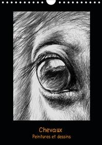 Brigitte Dumont - Peintures et dessins de chevaux (Calendrier mural 2020 DIN A4 vertical) - Chevaux: peintures et dessins (Calendrier mensuel, 14 Pages ).